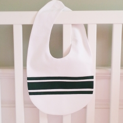 Hunter Green Ribbon Velcro Bib