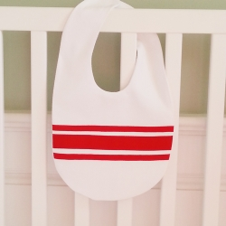 Red Ribbon Velcro Bib