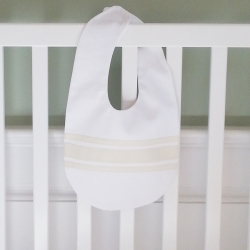 Cream Ribbon Velcro Bib