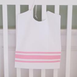 Pink Ribbon Large Pique Bib