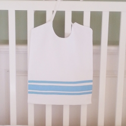 Blue Ribbon Large Pique Bib